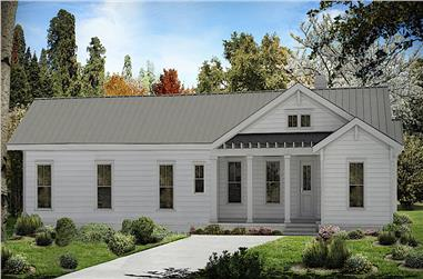 3-Bedroom, 1925 Sq Ft Ranch House Plan - 198-1131 - Front Exterior