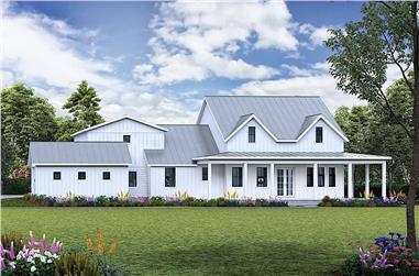 3-Bedroom, 2407 Sq Ft Farmhouse House Plan - 198-1132 - Front Exterior