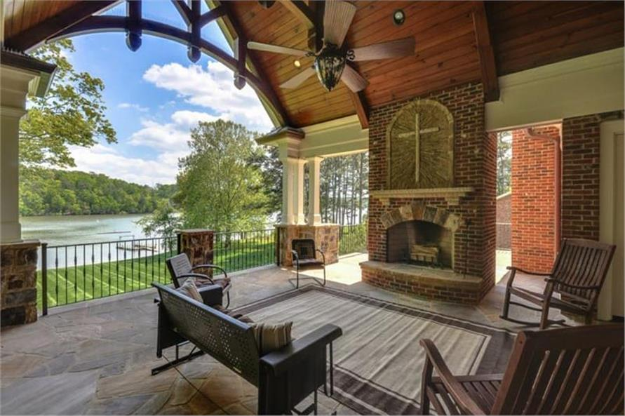 Deck of this 5-Bedroom,4851 Sq Ft Plan -198-1133