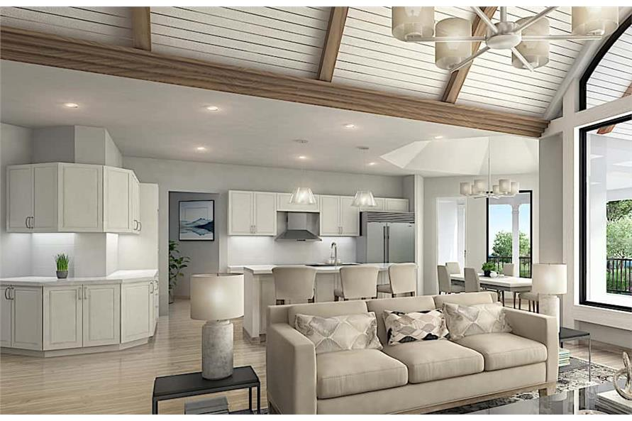 Home Interior Photograph of this 5-Bedroom,4851 Sq Ft Plan -198-1133