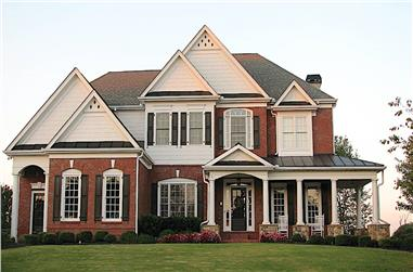 4-Bedroom, 4092 Sq Ft Traditional House - Plan #198-1135 - Front Exterior