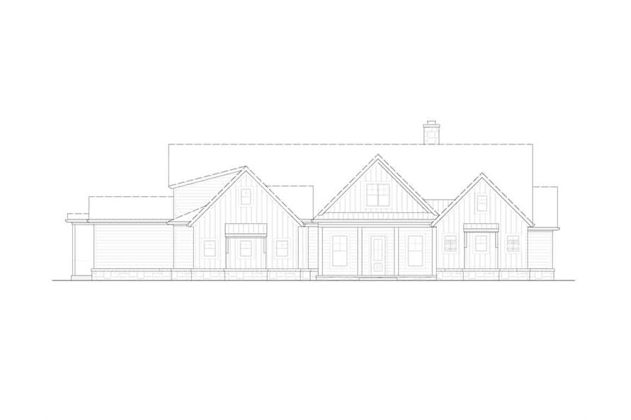 Home Plan Front Elevation of this 3-Bedroom,3169 Sq Ft Plan -198-1139