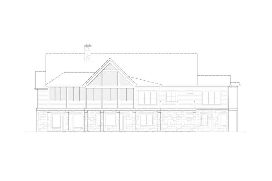 Home Plan Rear Elevation of this 3-Bedroom,3169 Sq Ft Plan -198-1139