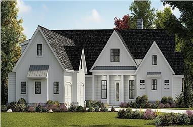 3-Bedroom, 3169 Sq Ft Cottage Home - Plan #198-1139 - Main Exterior