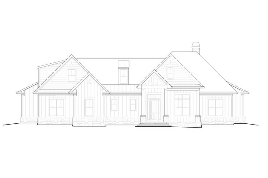Home Plan Front Elevation of this 4-Bedroom,2880 Sq Ft Plan -198-1140