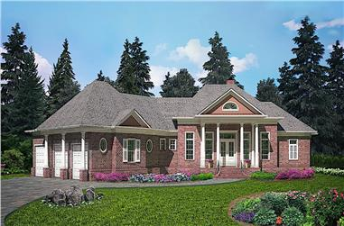 5-Bedroom, 4218 Sq Ft Colonial Home - Plan #198-1141 - Main Exterior