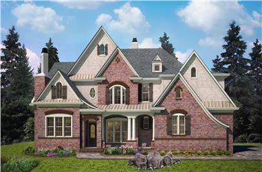 4-Bedroom, 4258 Sq Ft Colonial Home - Plan #198-1143 - Main Exterior