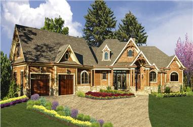 3-Bedroom, 4065 Sq Ft Cottage Home - Plan #198-1144 - Main Exterior