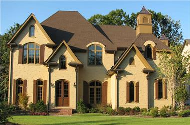 4-Bedroom, 5264 Sq Ft European House - Plan #198-1145 - Front Exterior