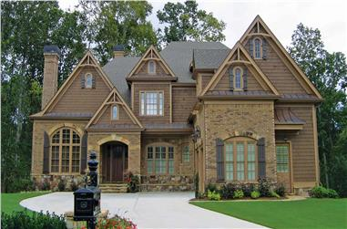 4-Bedroom, 4145 Sq Ft European House - Plan #198-1147 - Front Exterior