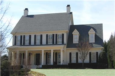 4-Bedroom, 3129 Sq Ft Colonial House - Plan #198-1154 - Front Exterior