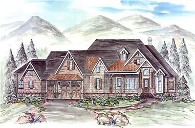 3-Bedroom, 3985 Sq Ft Rustic Home - Plan #198-1156 - Main Exterior