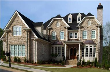 5-Bedroom, 4849 Sq Ft Colonial House - Plan #198-1157 - Front Exterior