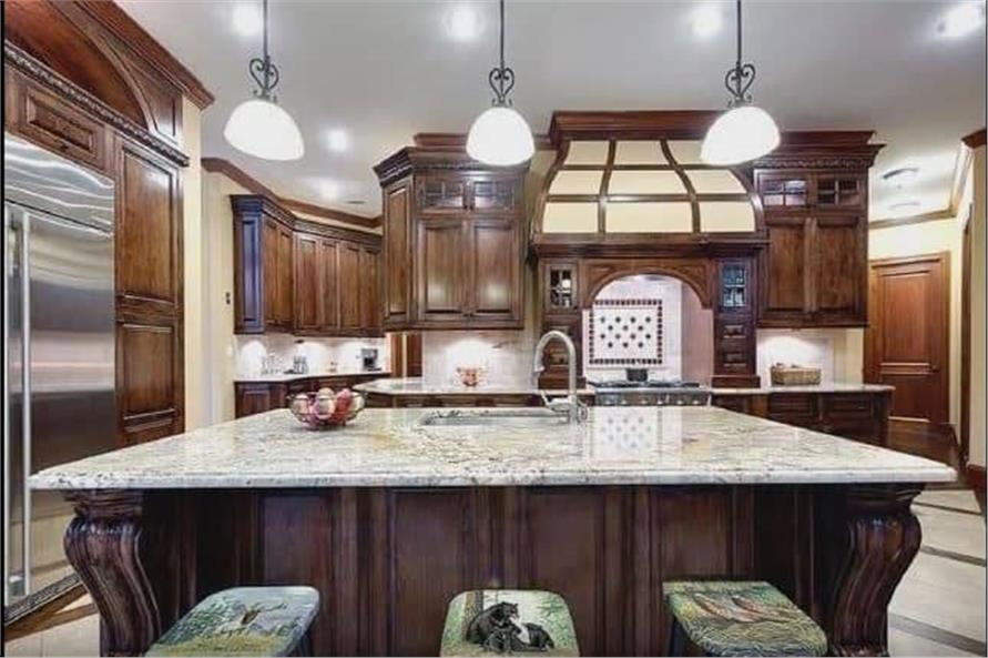 Kitchen: Kitchen Island of this 3-Bedroom,3110 Sq Ft Plan -198-1158