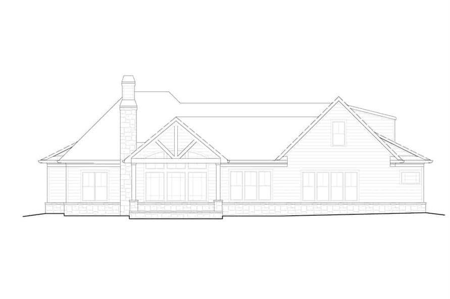 Home Plan Rear Elevation of this 5-Bedroom,3154 Sq Ft Plan -198-1160