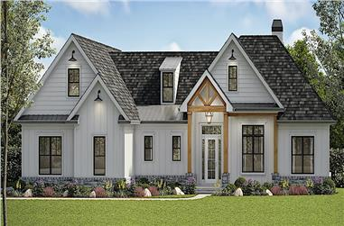 6-Bedroom, 3423 Sq Ft Contemporary House - Plan #198-1161 - Front Exterior