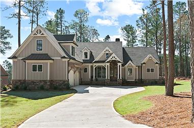 4-Bedroom, 3334 Sq Ft Luxury House - Plan #198-1163 - Front Exterior
