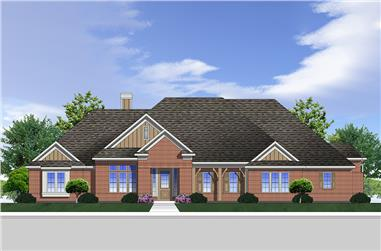 3-Bedroom, 2549 Sq Ft Traditional Home Plan - 199-1002 - Main Exterior