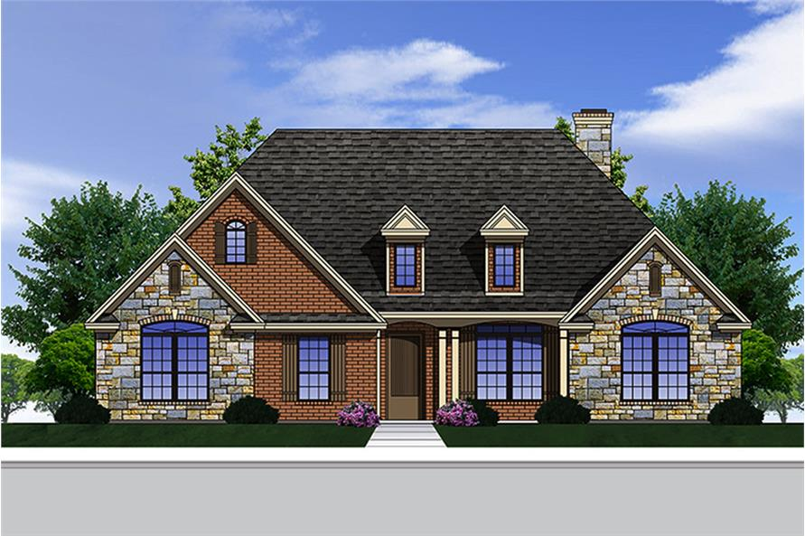 3-Bedroom, 2361 Sq Ft European Home Plan - 199-1003 - Main Exterior