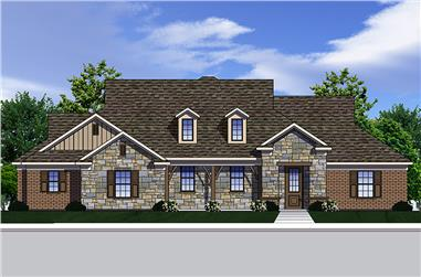 3-Bedroom, 2101 Sq Ft Traditional Home Plan - 199-1004 - Main Exterior