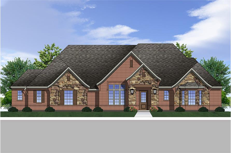 4-Bedroom, 3333 Sq Ft European Home Plan - 199-1006 - Main Exterior