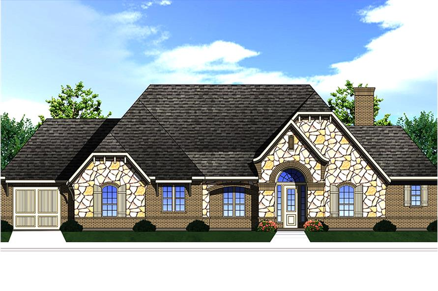 3-Bedroom, 2435 Sq Ft Traditional House Plan - 199-1007 - Front Exterior