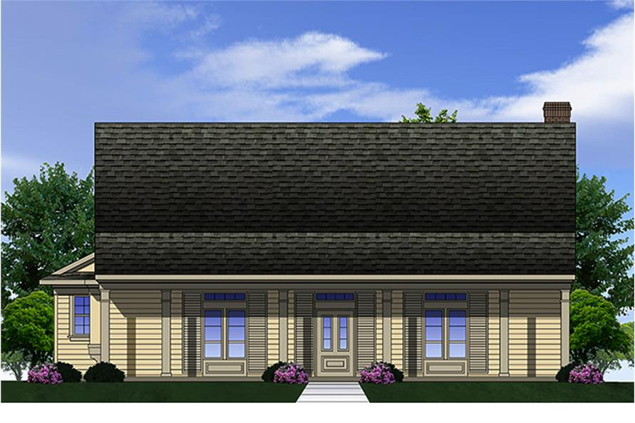 Front elevation of Country home (ThePlanCollection: House Plan #199-1008)