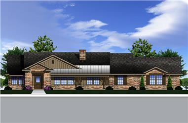 3-Bedroom, 2111 Sq Ft Traditional Home Plan - 199-1009 - Main Exterior
