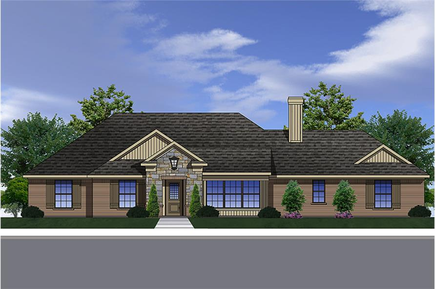 3-Bedroom, 1694 Sq Ft Traditional Home Plan - 199-1010 - Main Exterior