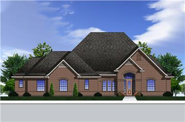 4-Bedroom, 3227 Sq Ft Traditional Home Plan - 199-1011 - Main Exterior