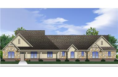 4-Bedroom, 2717 Sq Ft Traditional House Plan - 199-1012 - Front Exterior