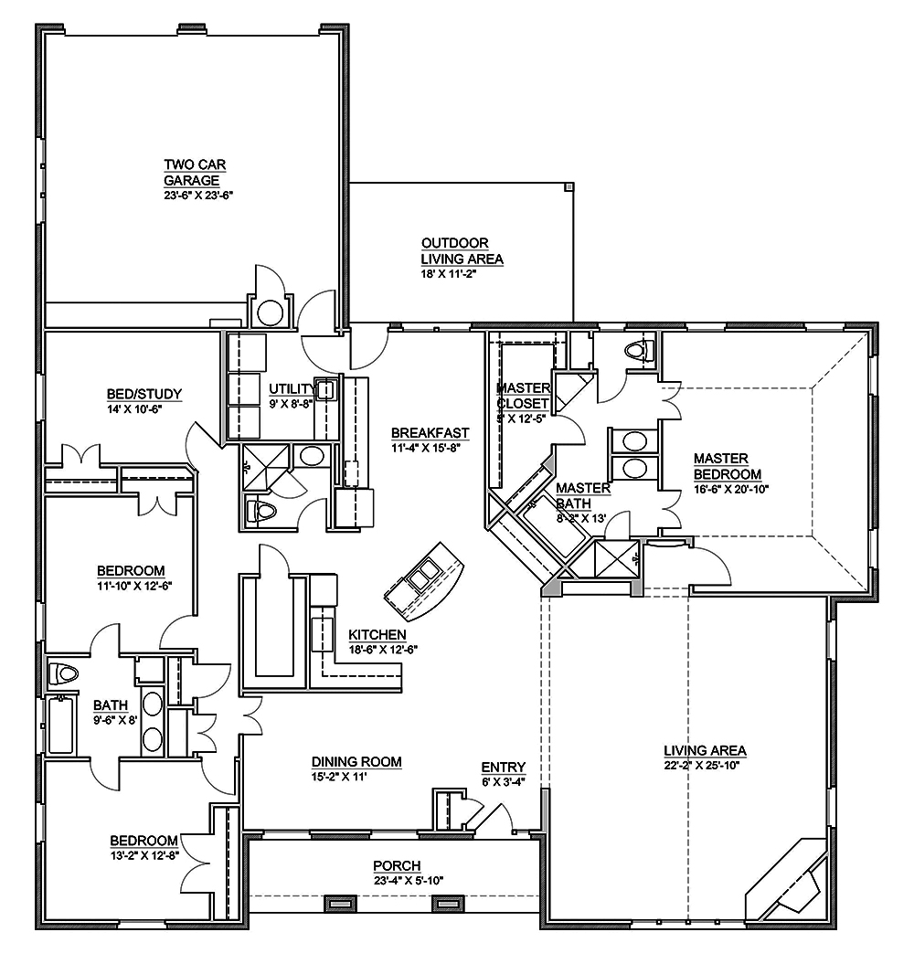 Traditional floor plan 4 bedrms 3 baths 3000 sq ft for How much to build a 3000 sq ft house