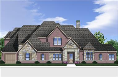4-Bedroom, 4190 Sq Ft Luxury Home Plan - 199-1015 - Main Exterior