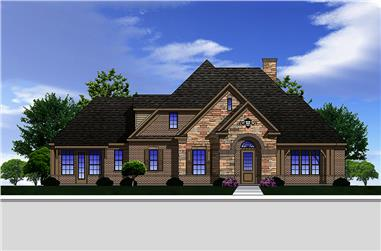 3-Bedroom, 3004 Sq Ft Traditional Home Plan - 199-1016 - Main Exterior