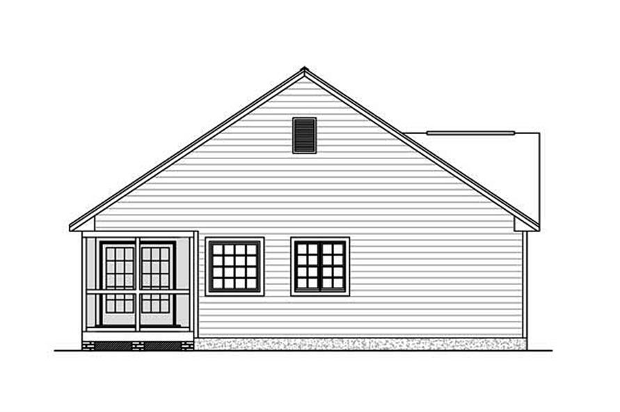 Home Plan Left Elevation of this 3-Bedroom,1438 Sq Ft Plan -200-1002