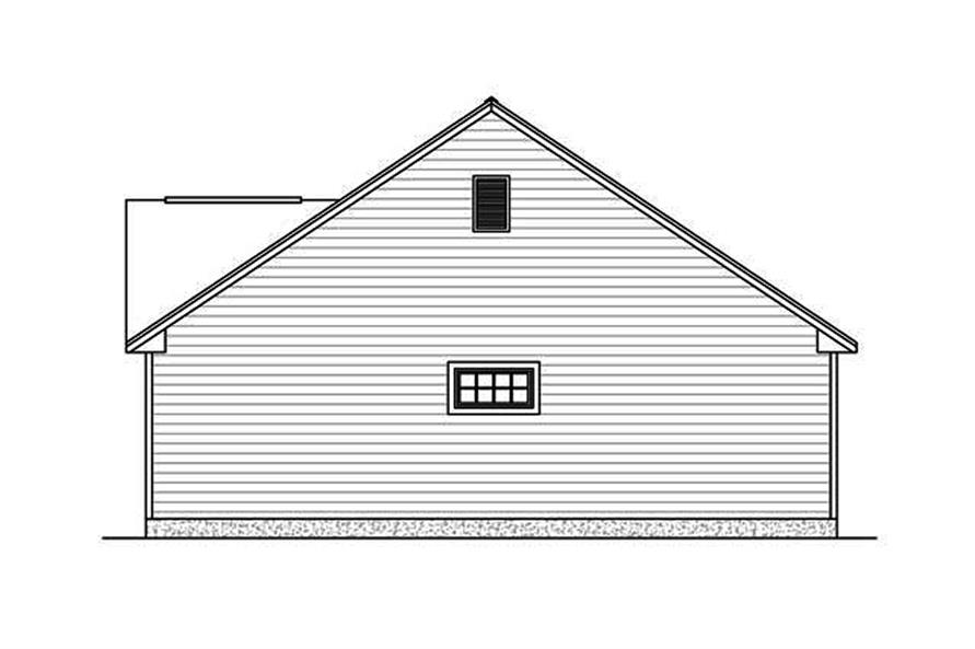Home Plan Right Elevation of this 3-Bedroom,1438 Sq Ft Plan -200-1002