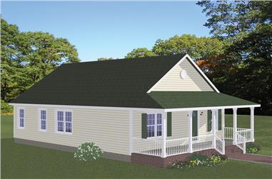 3-Bedroom, 1315 Sq Ft Cottage Home Plan - 200-1007 - Main Exterior