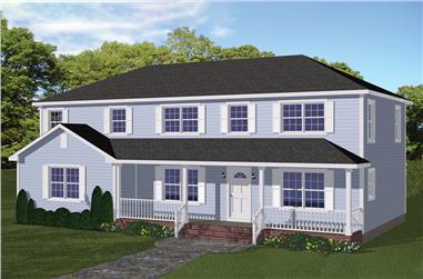 5-Bedroom, 2745 Sq Ft Traditional Home Plan - 200-1008 - Main Exterior