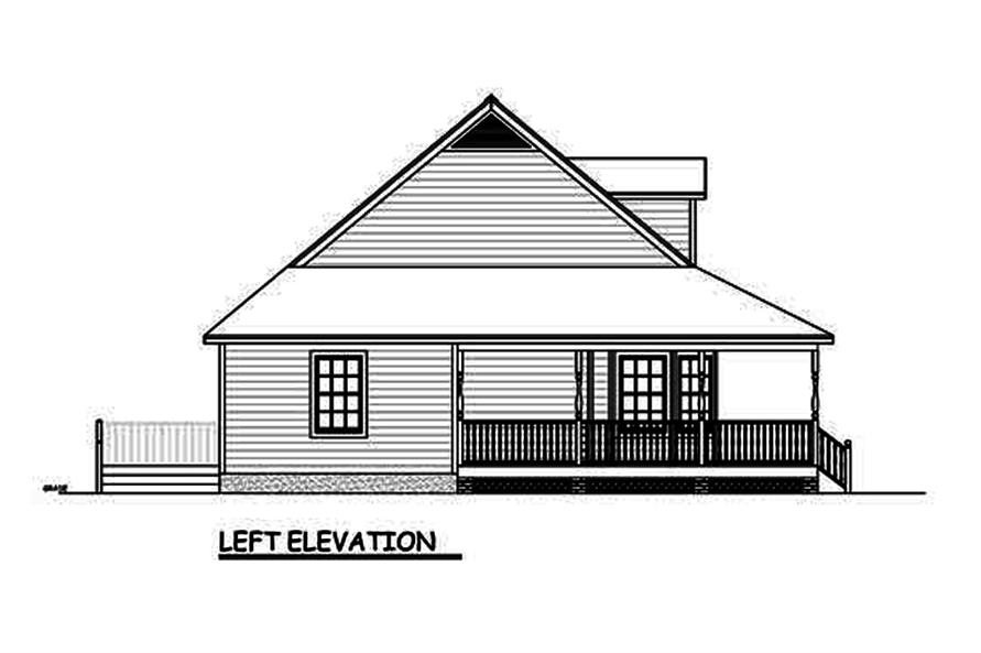 Home Plan Left Elevation of this 3-Bedroom,1704 Sq Ft Plan -200-1024