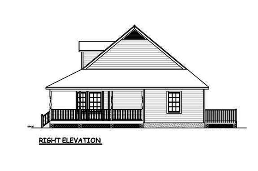 Home Plan Right Elevation of this 3-Bedroom,1704 Sq Ft Plan -200-1024