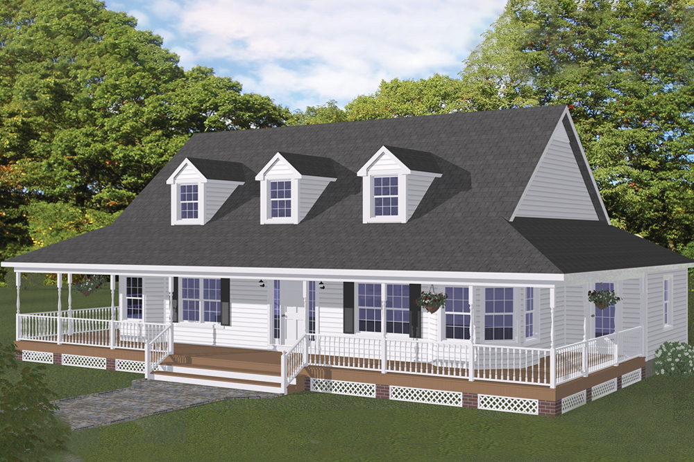 . Farmhouse Floor Plan   3 Bedrms  2 5 Baths   1704 Sq Ft    200 1024