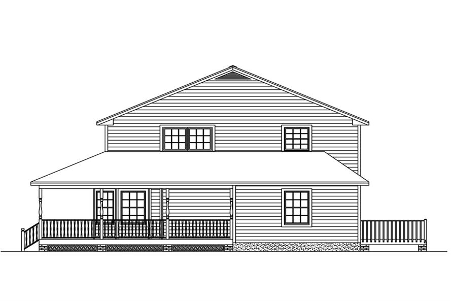 Home Plan Left Elevation of this 5-Bedroom,3130 Sq Ft Plan -200-1025