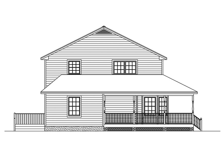 Home Plan Right Elevation of this 5-Bedroom,3130 Sq Ft Plan -200-1025