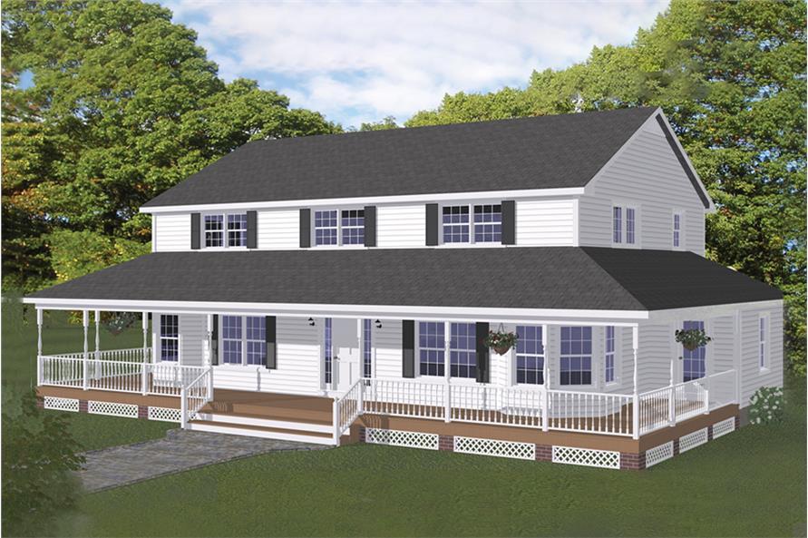 5-Bedroom, 3130 Sq Ft Farmhouse Home - #200-1025 - Main Exterior