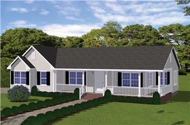 2-Bedroom, 1030 Sq Ft Ranch House - #200-1031 - Front Exterior