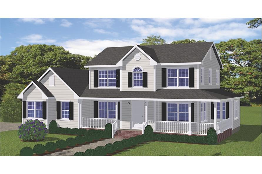 Home Plan Rendering of this 4-Bedroom,1841 Sq Ft Plan -1841