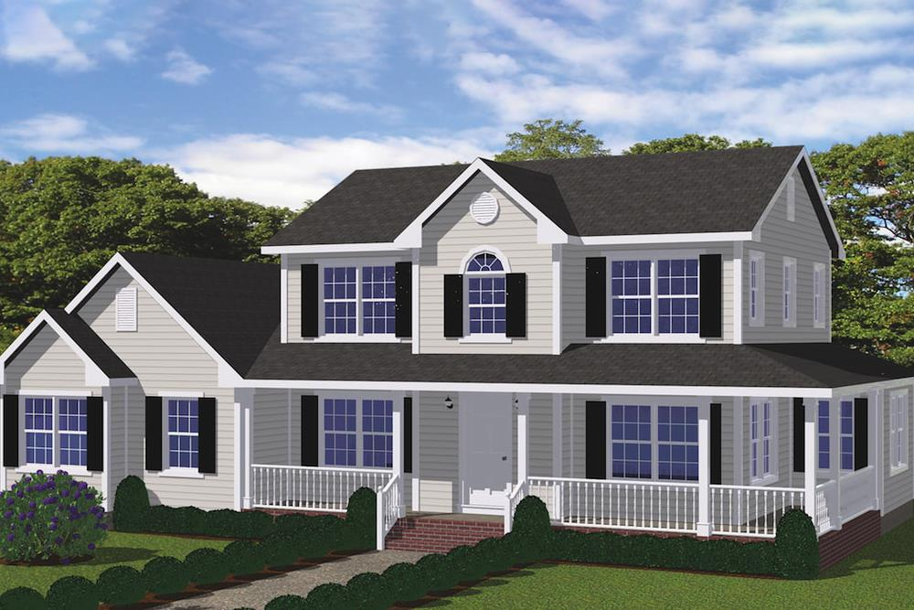 Country Farmhouse (ThePlanCollection: House Plan #200-1032)