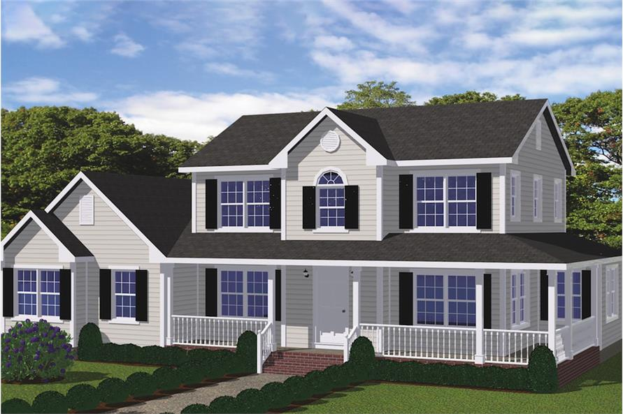 4-Bedroom, 1841 Sq Ft Farmhouse House - #200-1032 - Front Exterior