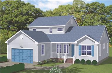 4-Bedroom, 2128 Sq Ft Traditional Home Plan - 200-1035 - Main Exterior