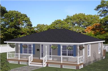 2-Bedroom, 1080 Sq Ft Cottage Home Plan - 200-1043 - Main Exterior
